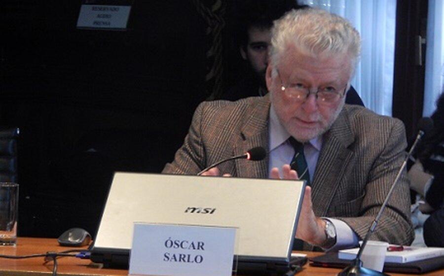 """imagen de Óscar Sarlo: """"La grieta pasó a ser un tremendo negocio político. ¿Qué podemos entonces pretender del pobre lenguaje?"""""""